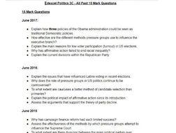 Edexcel Politics 3C - All Past 15 Mark Questions