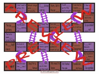 Adverbs Chutes and Ladders Board Game