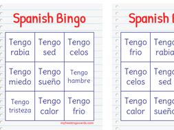 "SPANISH BINGO with Emojis using ""TENGO"""