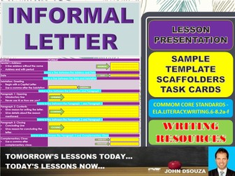 INFORMAL LETTER WRITING: READY TO USE PRESENTATION