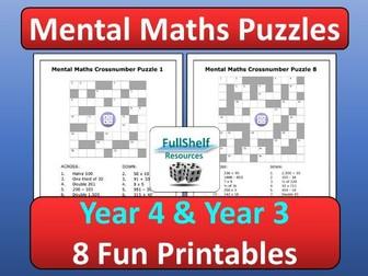 Mental Maths Activities Year 4 / 3