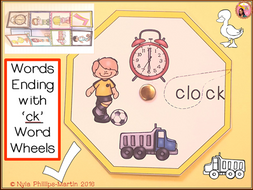 Phonics CK Word Wheel and Worksheet