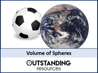 Volume 2 - Volume of Spheres (+ worksheet)