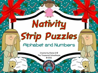 Nativity Strip Puzzles for Alphabet and Numbers