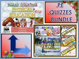 Physical Education PE Christmas Quiz BUNDLE
