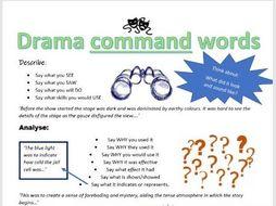 Drama Command Words