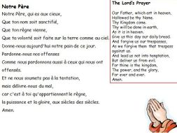 French and English prayers