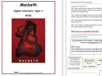 Macbeth (Everything your students need to revise Macbeth)