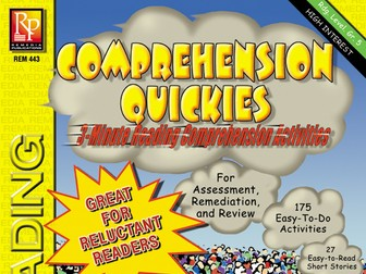 Comprehension Quickies (Reading Level 5)