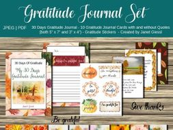 Gratitude Journal Set