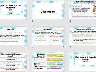 Observations Research Methods Revision