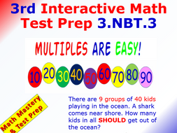 Grade 3 Math Interactive Test Prep – Multiples of Ten for 3.NBT.3
