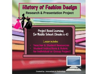 History of fashion design research presentation project by history of fashion design research presentation project by innovationsintechnology teaching resources tes reheart Image collections
