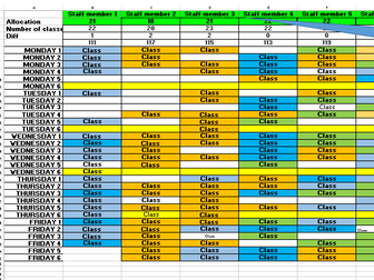 Department timetable planner (Automatically allocates