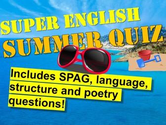 Quiz : End Of Year English Quiz