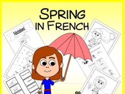 French Spring Vocabulary Sheets, Worksheets, Matching & Bingo Games