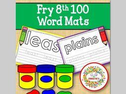 Sight Word Mats:  Fry 8th 100 Word Mats – Color