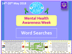 Mental Health Awareness Week 2018 Word Searches