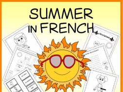French Summer Vocabulary Sheets, Printables, Matching & Bingo Games