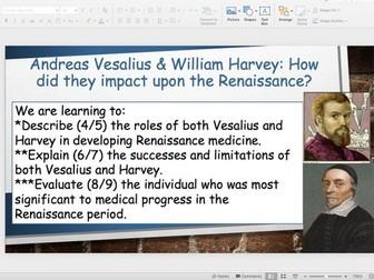 The impact of Vesalius and Harvey
