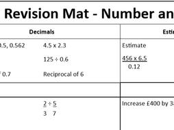 GCSE Maths Foundation Tier Revision Mat