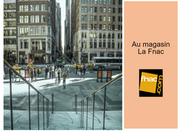 Dialogue in French to complete - Au magasin La Fnac