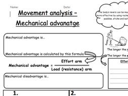 Lever system mechanical advantage