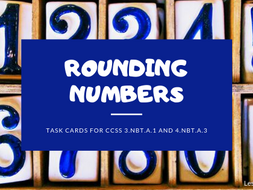 Rounding Numbers-Math Task Cards