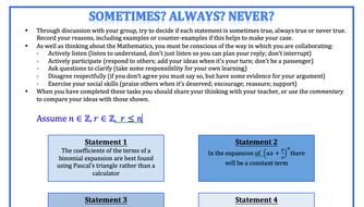 Binomial Theorem Activity by globalmaths - Teaching Resources - Tes