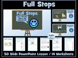 Full Stops: PowerPoint Lesson and Worksheets
