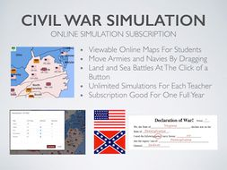 American Civil War Online Simulation 1 year Subscription