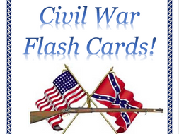 Flash Cards for Civil War Battles