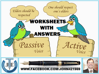 ACTIVE AND PASSIVE VOICE: 18 WORKSHEETS WITH ANSWERS