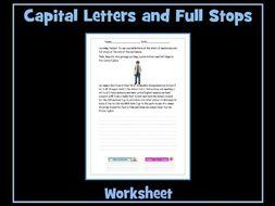 Full Stops and Capital Letters - SEN / ESL