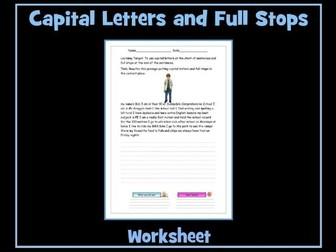 Full Stops Rule! OK? Using Full Stops and Capital Letters Worksheet - SEN / ESL Resource