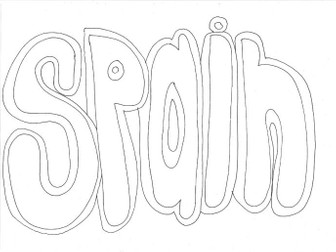 Spain: Countries and Languages Colouring Page
