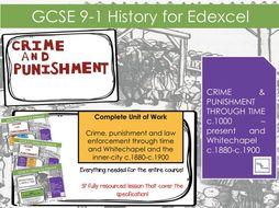 GCSE Crime, punishment and law enforcement through timec.1000-present and Whitechapel c1880 - c.1900