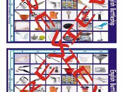 Kitchen Cookware and Utensils Battleship Board Game