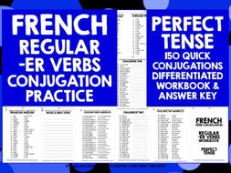 FRENCH -ER VERBS PERFECT TENSE WORKBOOK