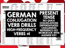 GERMAN CONJUGATION PRACTICE PRESENT TENSE #1