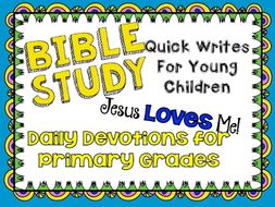 Bible Study for Primary Students - Printables - 126 pages