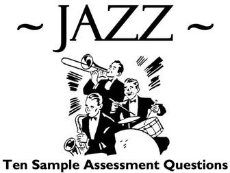 Eduqas A Level Music - AoS D: JAZZ - Ten Sample Assessments