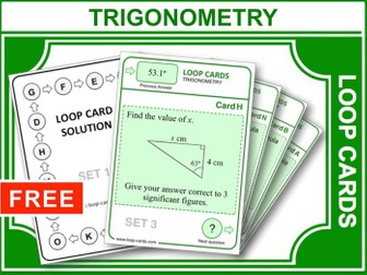 Trigonometry (Loop Cards)