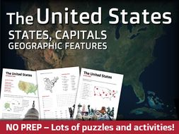 Geography - States, Capitals, and Landforms of the United States