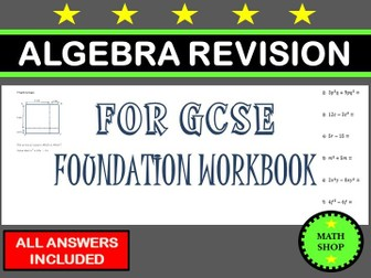 GCSE 9-1 Foundation Revision Algebra