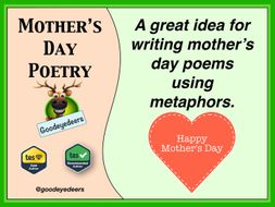 Mother's Day Poetry Lesson - Metaphors
