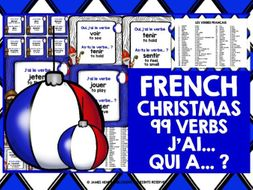 FRENCH VERBS CHRISTMAS I HAVE WHO HAS