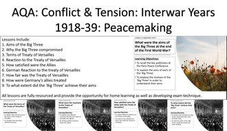 AQA: Conflict & Tension: Interwar Years: Peacemaking