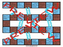 Indefinite Pronouns Chutes and Ladders Board Game