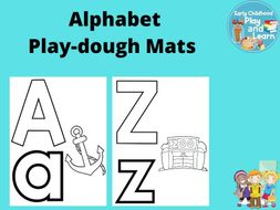 Beginning Sounds Alphabet Play-dough Mats
